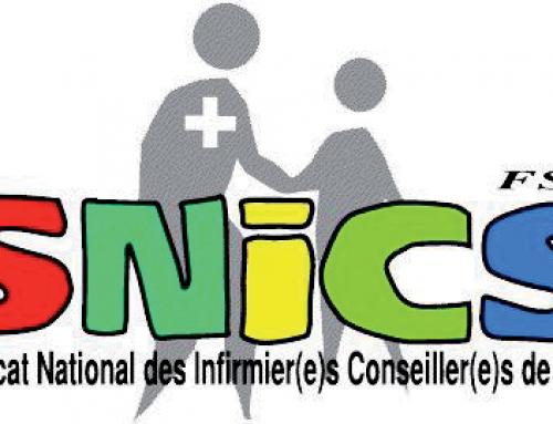 Courrier du SNICS-FSU (Syndicat National des Infirmier(e)s Conseiller(e)s de Santé adressé à la Rectrice