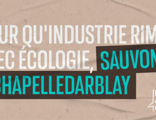 Sauvons Chapelle Darblay – Pour qu'industrie rime avec écologie